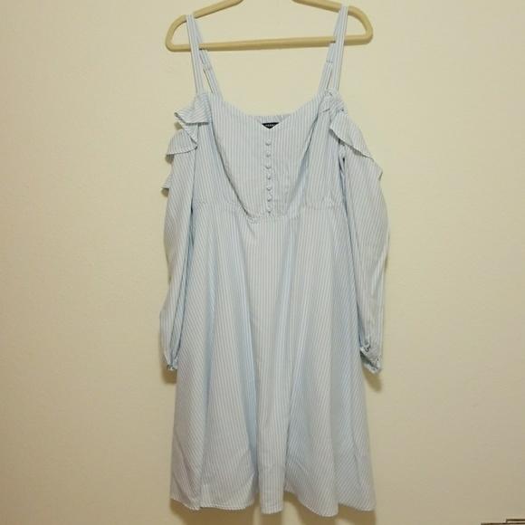 9007552fddd Torrid Striped Cold Shoulder Challis Dress
